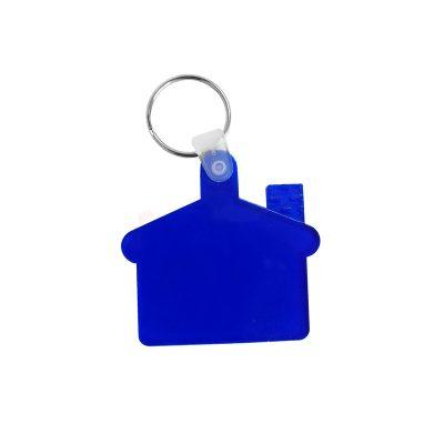Брелок-будинок пластиковий к-р синій