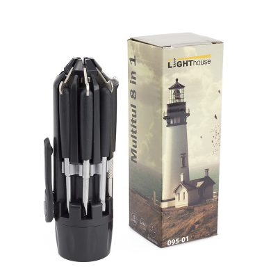 Ліхтар ручний Multilight, мультитул 8 в 1, пластик-метал, 15LM