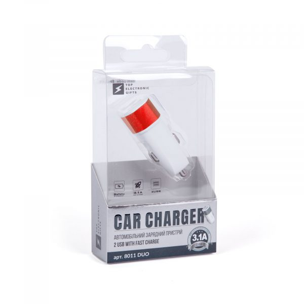 Автомобільний зарядний пристрій Duo, TM TEG 4