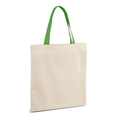 Еко сумка з бавовни з кольоровими ручками, 140 г\м2