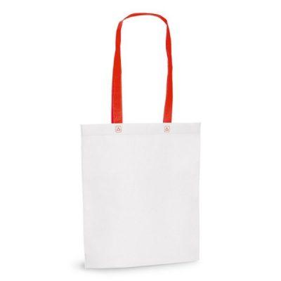 Еко сумка зі спанбонду з кольоровими ручками, 80 г\м2