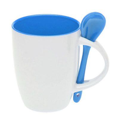 Чашка керамічна з ложкою